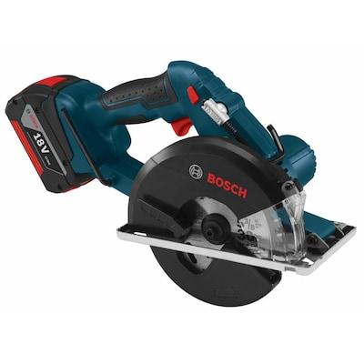 Máy cưa vòng không dây 18-volt 5-3 / 8-in của Bosch với giày kim loại
