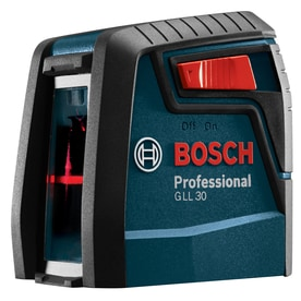Bosch 30-ft Red Beam Self-Leveling Cross-Line Chalkline Laser Level with Plumb Points