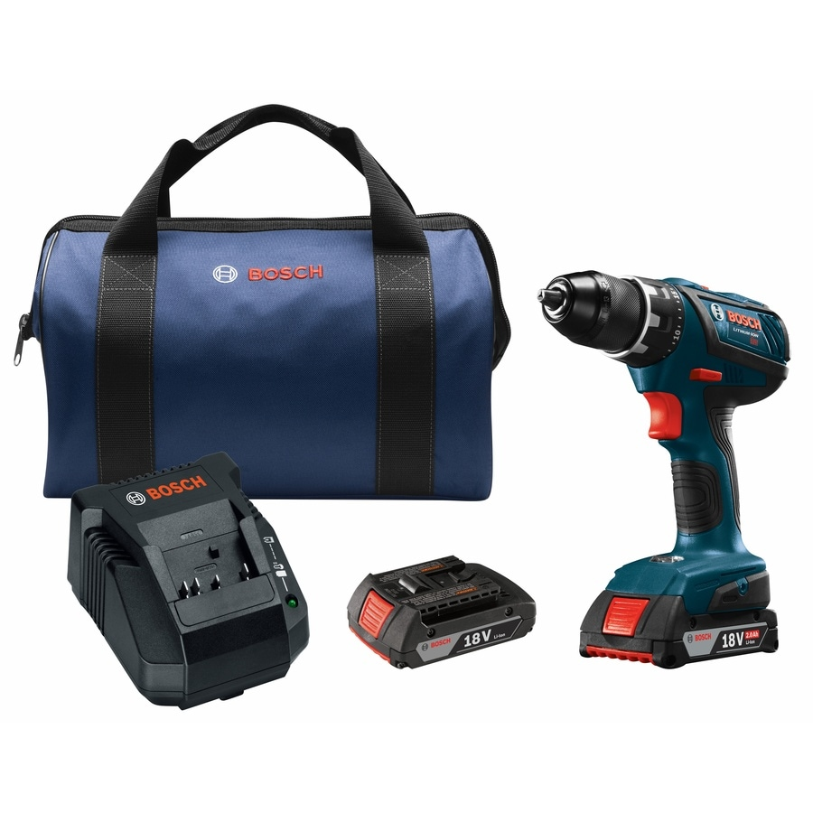 Bosch Compact Tough 18-Volt Lithium Ion (Li-ion) 1/2-in Cordless Drill with Battery and Soft Case