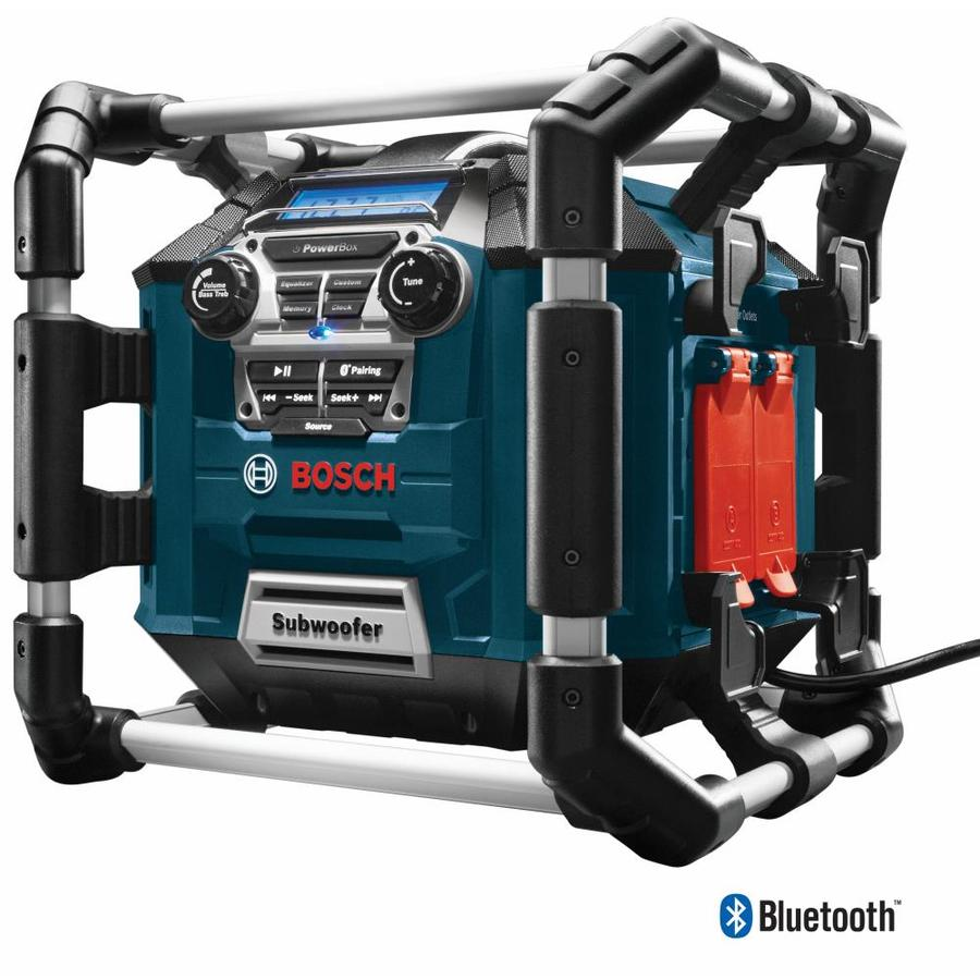 Bosch Water Resistant Cordless Bluetooth Capability Jobsite Radio