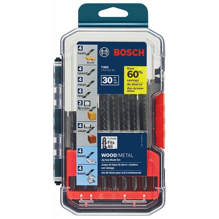 Bosch 30-Pack T-Shank Jigsaw Blade Set