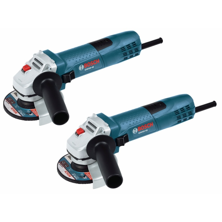 Bosch 2-Pack 4-1/2-in 7.5-Amp Sliding Switch Corded Angle Grinders