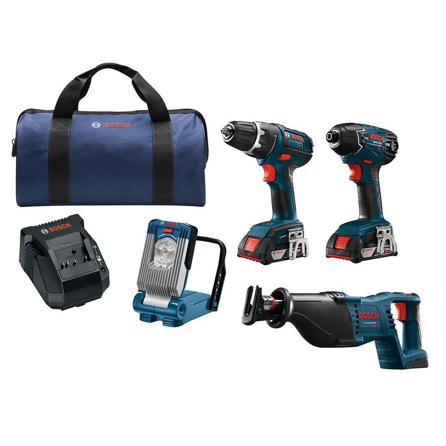shop bosch 4 tool 18 volt lithium ion cordless combo kit at. Black Bedroom Furniture Sets. Home Design Ideas