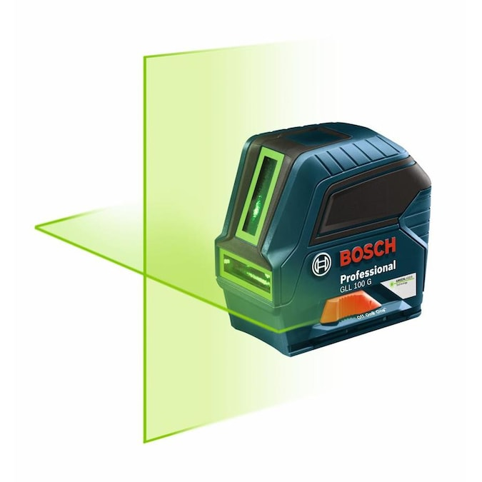 Bosch Visimax 100 Ft Green Beam Self Leveling Cross Line Beam Laser Level In The Laser Levels Department At Lowes Com