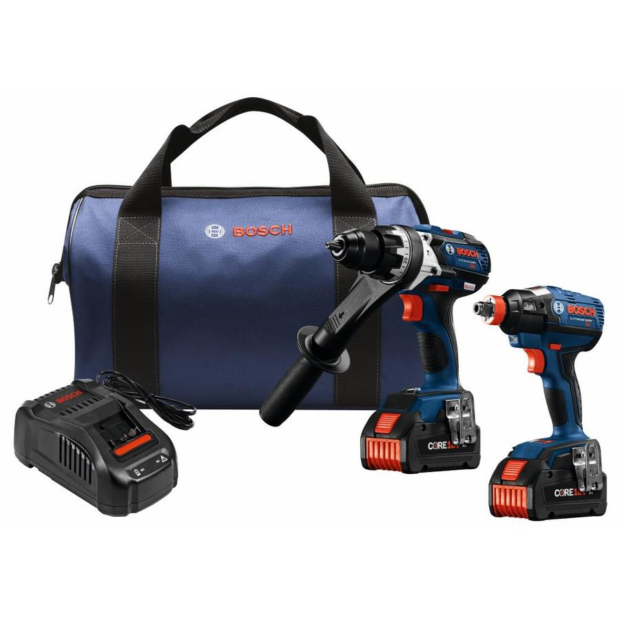 shop bosch core18v 2 tool 18 volt lithium ion brushless cordless combo kit at. Black Bedroom Furniture Sets. Home Design Ideas