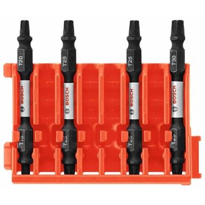 Bosch Custom Case 4-Piece 1/4-in x 2-1/2-in Torx Impact Driver Bit