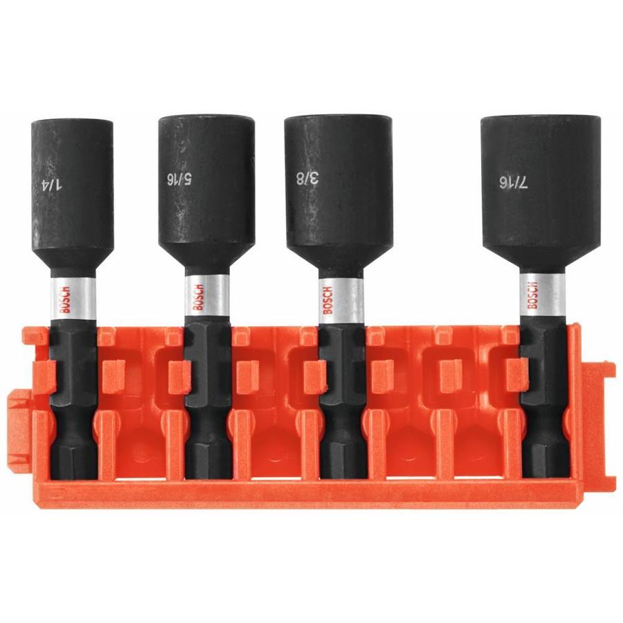 Shop bosch impact tough 4 piece screwdriver bit set at for Best impact windows reviews