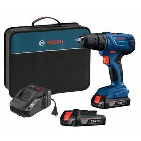 """BOSCH GSR18V-190B22 Cordless Drill/Driver Kit,18V,1/2"""",Battery Included"""