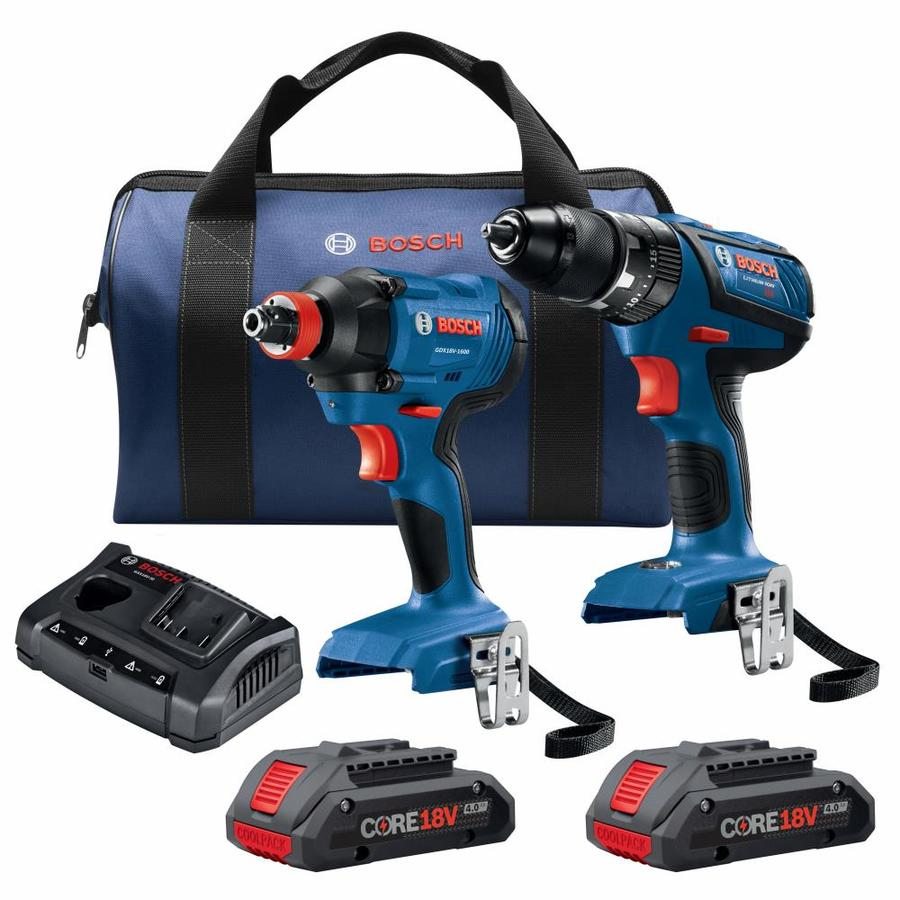 bosch compact tough core18v 2 tool 18 volt lithium ion li. Black Bedroom Furniture Sets. Home Design Ideas