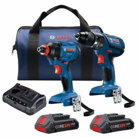Bosch Compact Tough CORE18V 2-Tool 18-volt Power Tool Combo Kit with FREAK Impact Driver