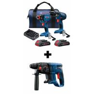 Bosch Compact Tough Core18V 2-Tool 18-volt Li-ion Power Tool Combo Kit Deals