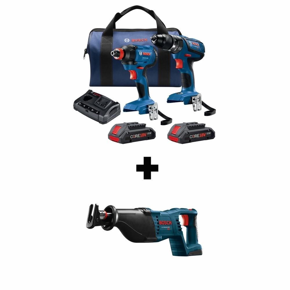 Bosch Compact Tough Core18V 2-Tool 18-Volt Power Tool