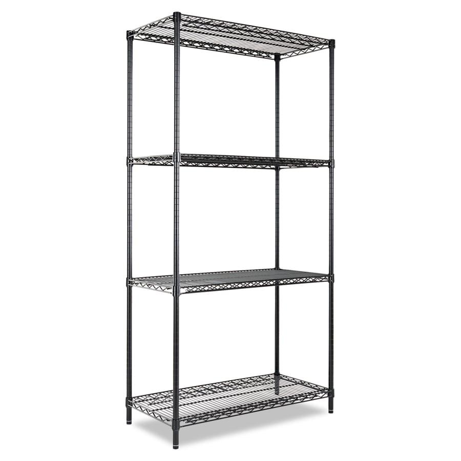 shop alera 72 in h x 36 in w x 18 in d 4 tier steel. Black Bedroom Furniture Sets. Home Design Ideas
