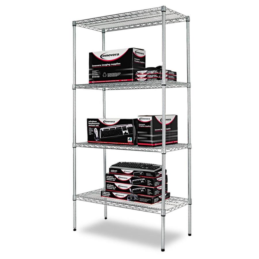 Alera Industrial Kitchen Carts At Lowes Com: Shop Alera 72-in H X 36-in W X 18-in D 4-Tier Steel