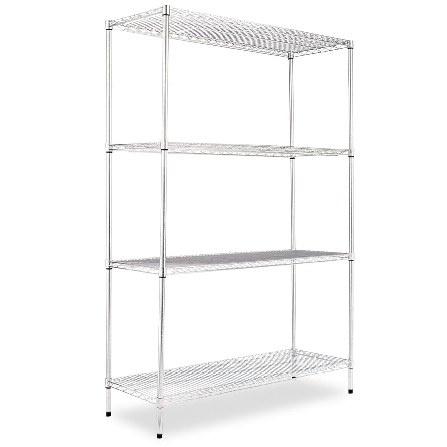 Alera 72-in H x 48-in W x 18-in D 4-Tier Steel Freestanding Shelving Unit