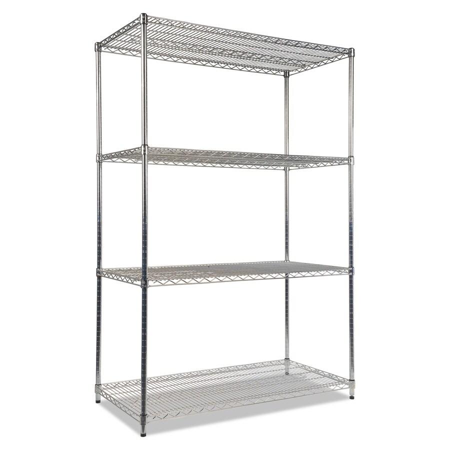 Alera 72-in H x 48-in W x 24-in D 4-Tier Steel Freestanding Shelving Unit