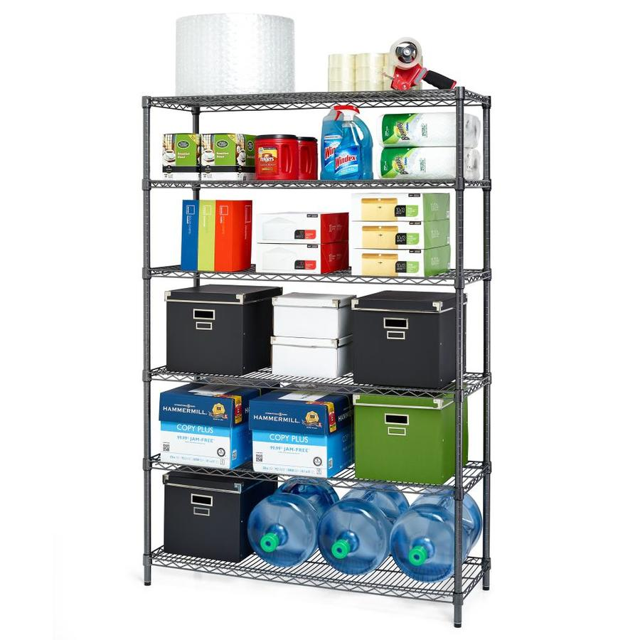 Alera 72-in H x 48-in W x 18-in D 6-Tier Steel Freestanding Shelving Unit