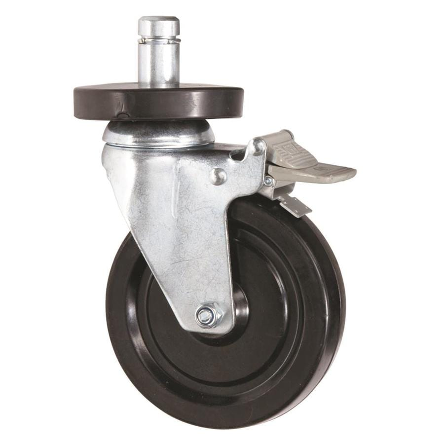 Alera 4-Pack 5-in with Bumper Steel Swivel Casters
