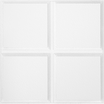 Common 24 In X Actual 23 719 Cascade 12 Pack White Patterned 15 16 Drop Acoustic Panel Ceiling Tiles