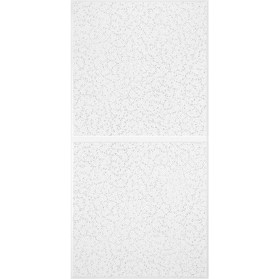 Armstrong Ceilings (Common: 48-in x 24-in; Actual: 47.719-in x 23.719-in) Scored Contractor 10-Pack White Patterned 15/16-in Drop Acoustic Panel Ceiling Tiles