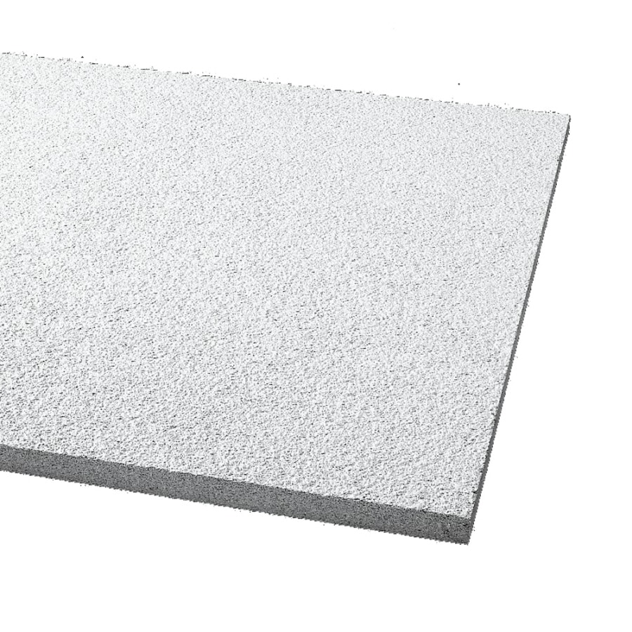 Armstrong Ceilings (Common: 24-in x 24-in; Actual: 23.719-in x 23.719-in) Cirrus 12-Pack White Textured 15/16-in Drop Acoustic Panel Ceiling Tiles