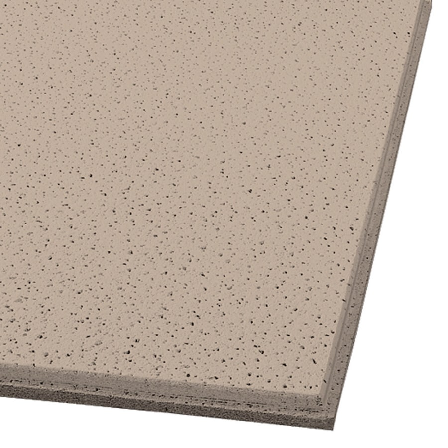 Armstrong Ceilings Fine Fissured 16-Pack Adobe Fissured 15/16-in Drop Acoustic Panel Ceiling Tiles (Common: 24-in x 24-in; Actual: 23.704-in x 23.704-in)