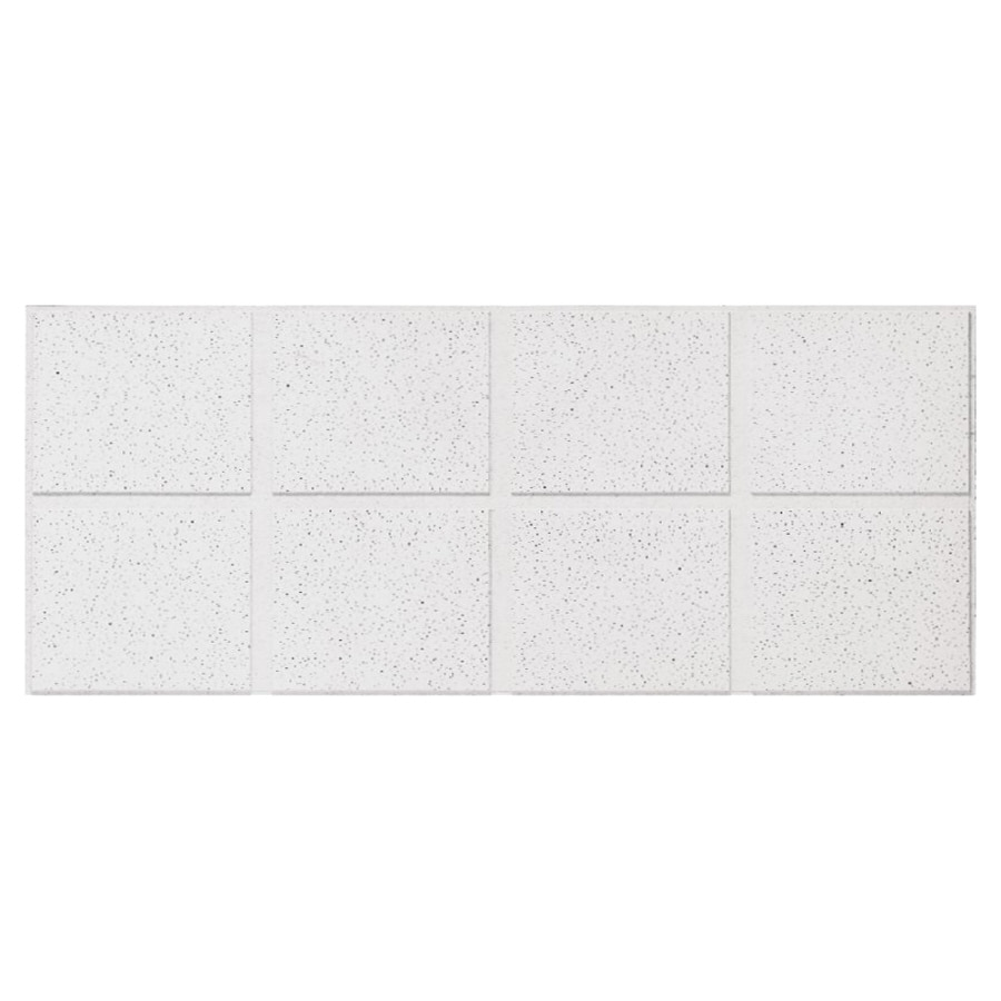 Armstrong Ceilings (Common: 48-in x 24-in; Actual: 47.745-in x 23.745-in) Fine Fissured Second Look 10-Pack White Patterned 9/16-in Drop Acoustic Panel Ceiling Tiles