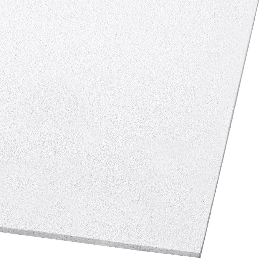 Armstrong Ceilings (Common: 24-in x 24-in; Actual: 23.813-in x 23.813-in) Dune 12-Pack White Smooth 15/16-in Drop Acoustic Panel Ceiling Tiles