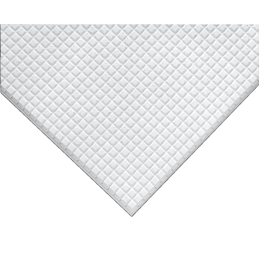 Armstrong Ceilings (Common: 24-in x 24-in; Actual: 23.731-in x 23.731-in) Graphis 12-Pack White Patterned 9/16-in Drop Acoustic Panel Ceiling Tiles