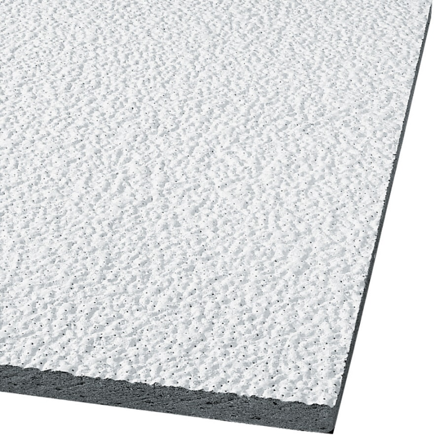 Armstrong Ceilings Armatuff 16-Pack White Textured 15/16-in Drop Acoustic Panel Ceiling Tiles (Common: 24-in x 24-in; Actual: 23.719-in x 23.719-in)