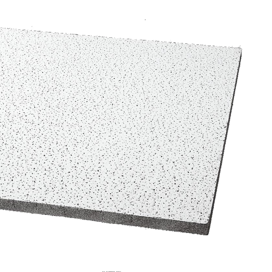 Armstrong Ceilings (Common: 24-in x 24-in; Actual: 23.719-in x 23.719-in) Fine Fissured 16-Pack Platinum Fissured 15/16-in Drop Acoustic Panel Ceiling Tiles