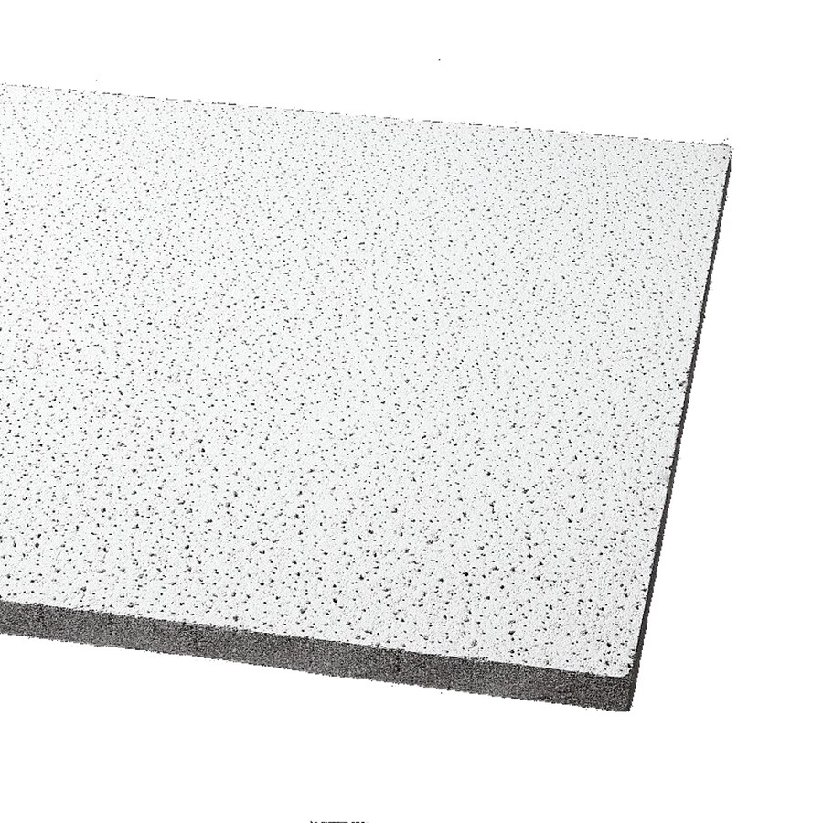 Armstrong Ceilings (Common: 48-in x 24-in; Actual: 47.719-in x 23.719-in) Fine Fissured 12-Pack Cream Fissured 15/16-in Drop Acoustic Panel Ceiling Tiles