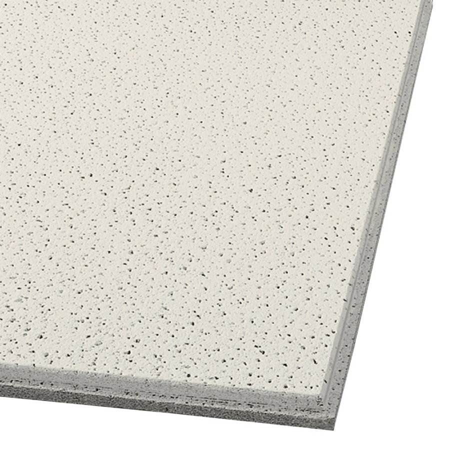 Armstrong Ceilings (Common: 24-in x 24-in; Actual: 23.704-in x 23.704-in) Fine Fissured 16-Pack Cream Fissured 15/16-in Drop Acoustic Panel Ceiling Tiles