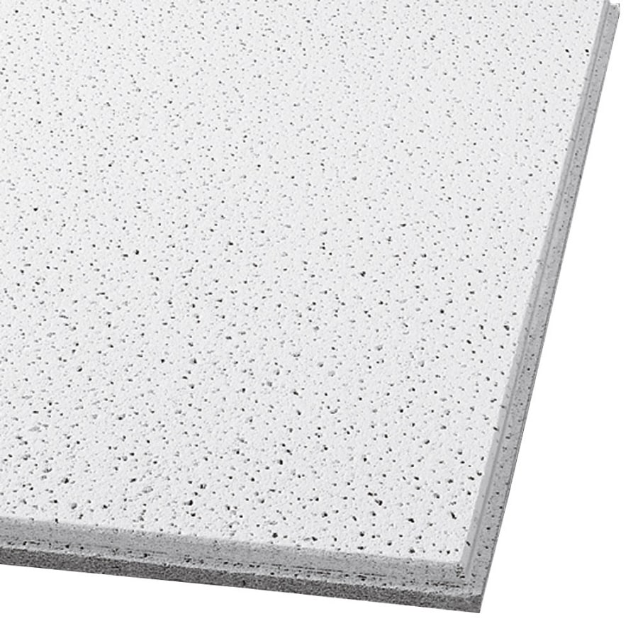 Armstrong Ceilings (Common: 24-in x 24-in; Actual: 23.75-in x 23.75-in) Fine Fissured 12-Pack White Fissured 15/16-in Drop Acoustic Panel Ceiling Tiles