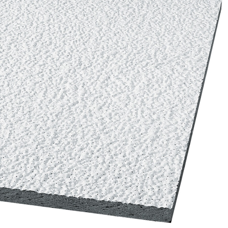 Armstrong Ceilings (Common: 48-in x 24-in; Actual: 47.719-in x 23.719-in) Armatuff 8-Pack White Textured 15/16-in Drop Acoustic Panel Ceiling Tiles