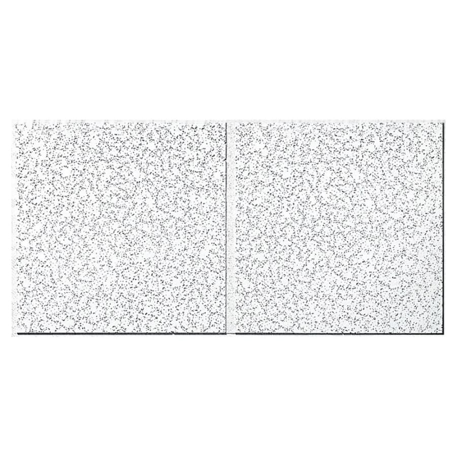 Armstrong Ceilings (Common: 48-in x 24-in; Actual: 47.75-in x 23.75-in) Cortega 8-Pack White Patterned 15/16-in Drop Acoustic Panel Ceiling Tiles