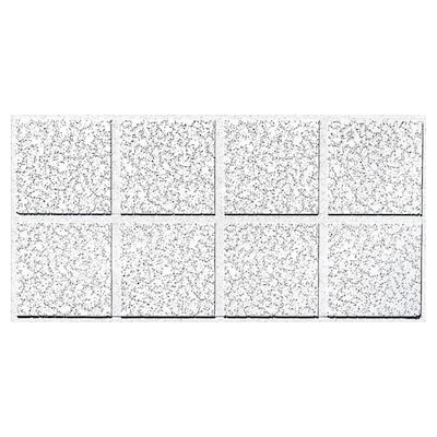 Common 48 In X 24 In Actual 47 704 In X 23 704 In Cortega 10 Pack White Patterned 15 16 In Drop Acoustic Panel Ceiling Tiles