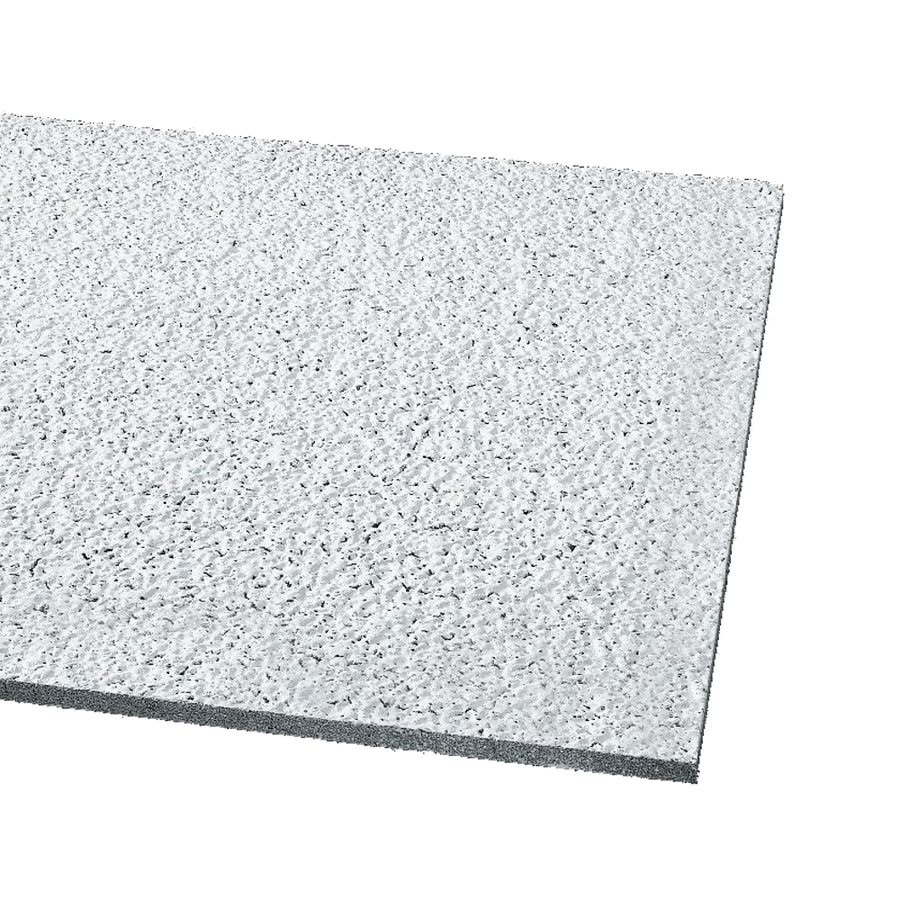 Armstrong Ceilings (Common: 48-in x 24-in; Actual: 47.719-in x 23.719-in) Designer 10-Pack White Textured 15/16-in Drop Acoustic Panel Ceiling Tiles