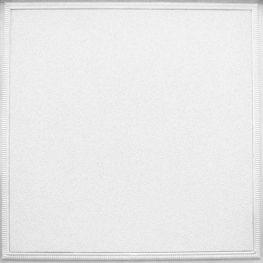 Armstrong Ceilings Fluted Homestyle 6-Pack White Patterned 15/16-in Drop Acoustic Panel Ceiling Tiles (Common: 24-in x 24-in; Actual: 23.735-in x 23.735-in)