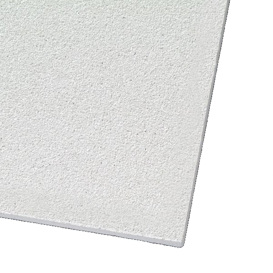 Armstrong Ceilings (Common: 24-in x 24-in; Actual: 23.719-in x 23.719-in) Mesa 12-Pack White Smooth 15/16-in Drop Acoustic Panel Ceiling Tiles