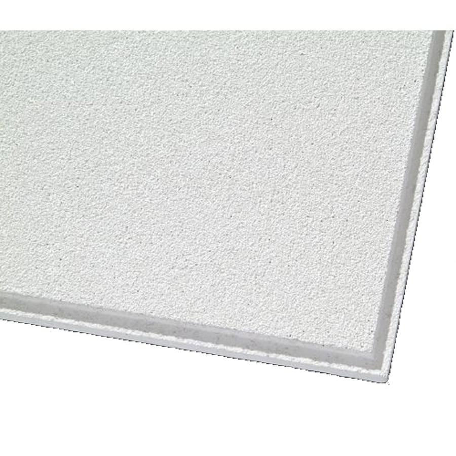 Armstrong Ceilings (Common: 24-in x 24-in; Actual: 23.704-in x 23.704-in) Mesa 12-Pack White Smooth 15/16-in Drop Acoustic Panel Ceiling Tiles