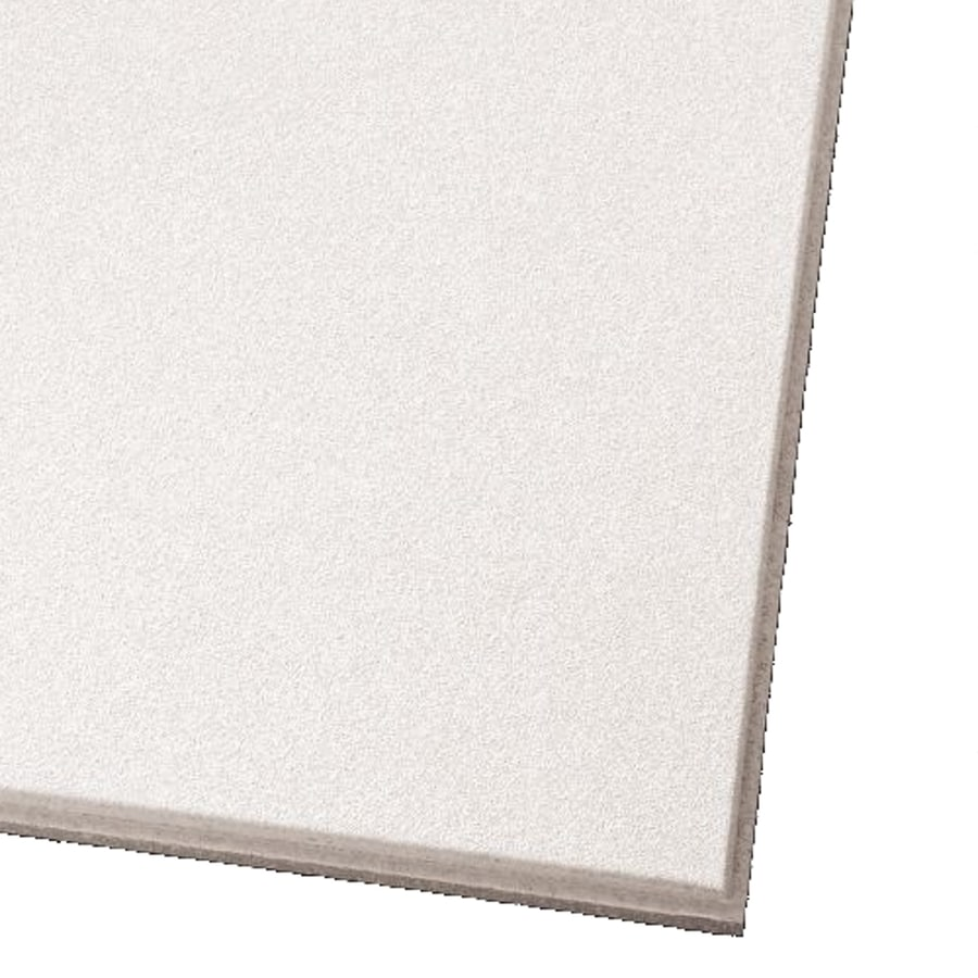 Armstrong Ceilings (Common: 24-in x 24-in; Actual: 23.745-in x 23.745-in) Ultima 12-Pack White Smooth 9/16-in Drop Acoustic Panel Ceiling Tiles