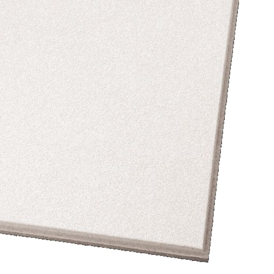Armstrong Ceilings (Common: 24-in x 24-in; Actual: 23.73-in x 23.73-in) Ultima 12-Pack White Smooth 15/16-in Drop Acoustic Panel Ceiling Tiles