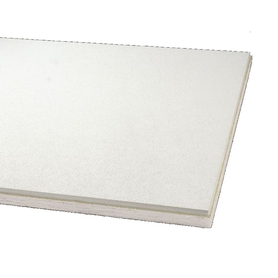 Armstrong Ceilings (Common: 24-in x 24-in; Actual: 23.745-in x 23.745-in) Optima 16-Pack White Textured 9/16-in Drop Acoustic Panel Ceiling Tiles