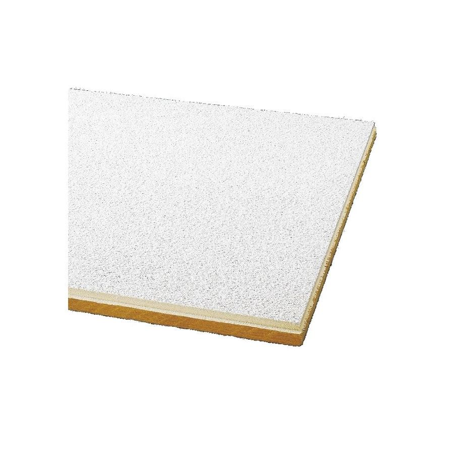 Armstrong Ceilings (Common: 24-in x 24-in; Actual: 23.745-in x 23.745-in) Painted Nubby 24-Pack White Textured 9/16-in Drop Acoustic Panel Ceiling Tiles