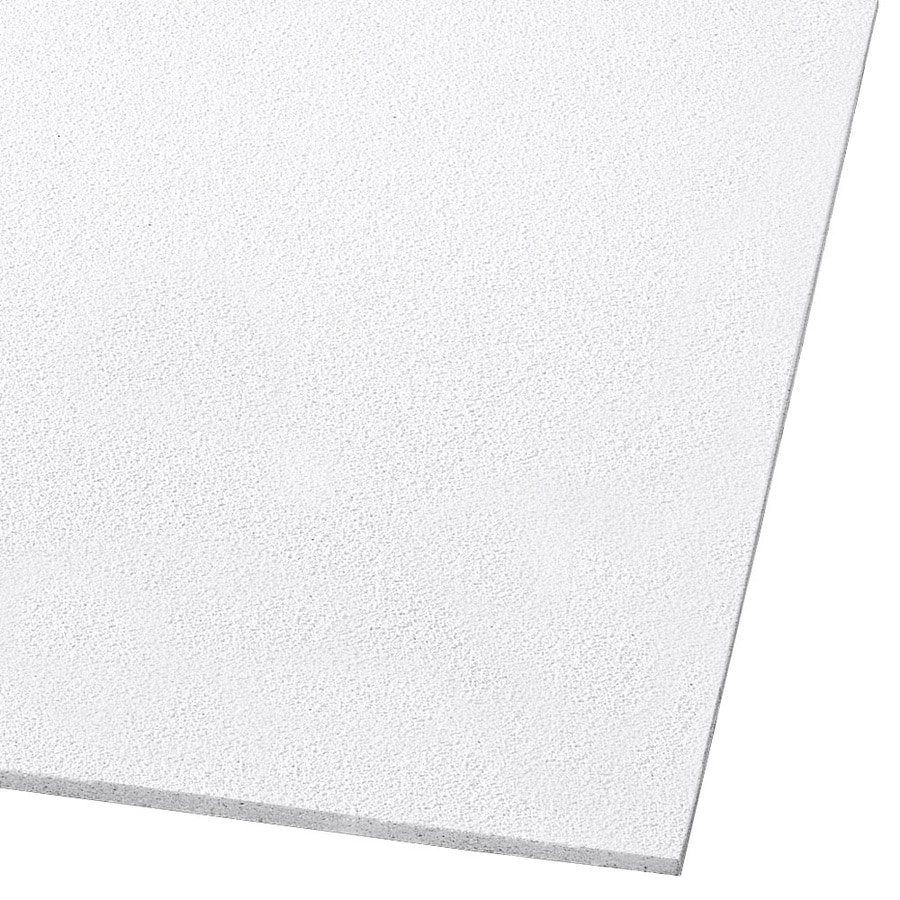 Armstrong Ceilings (Common: 20-in x 60-in; Actual: 19.719-in x 59.719-in) Dune 8-Pack White Smooth 15/16-in Drop Acoustic Panel Ceiling Tiles