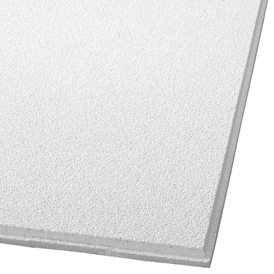 Armstrong Ceilings (Common: 48-in x 24-in; Actual: 47.688-in x 23.688-in) Dune 10-Pack White Smooth 15/16-in Drop Acoustic Panel Ceiling Tiles
