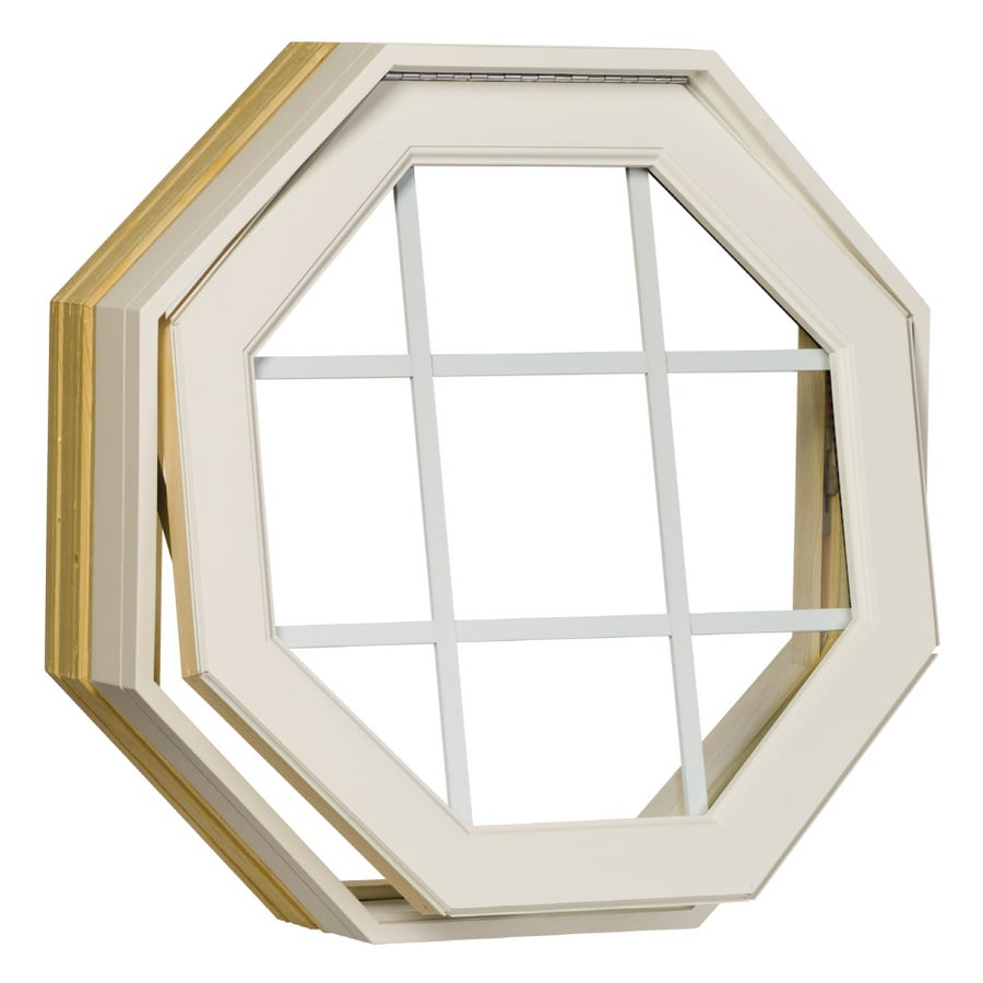 Century Specialty Windows 24-in x 24-in Windows of Distinction Series Unfinished Wood Double Pane Single Strength Octagon New Construction Window