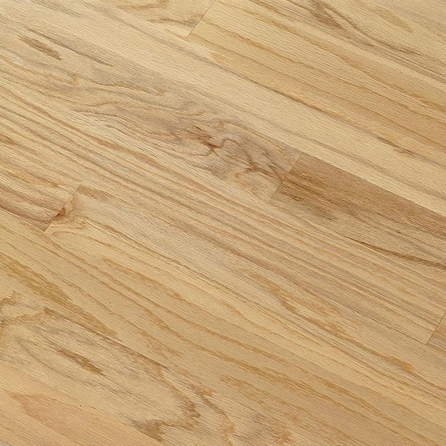 Shop bruce hillden plank 7 in w prefinished oak engineered for Natural oak wood flooring