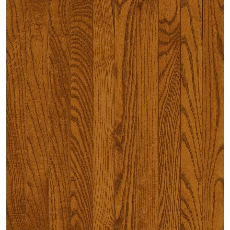 Shop bruce natural choice gunstock oak solid for Real oak hardwood flooring